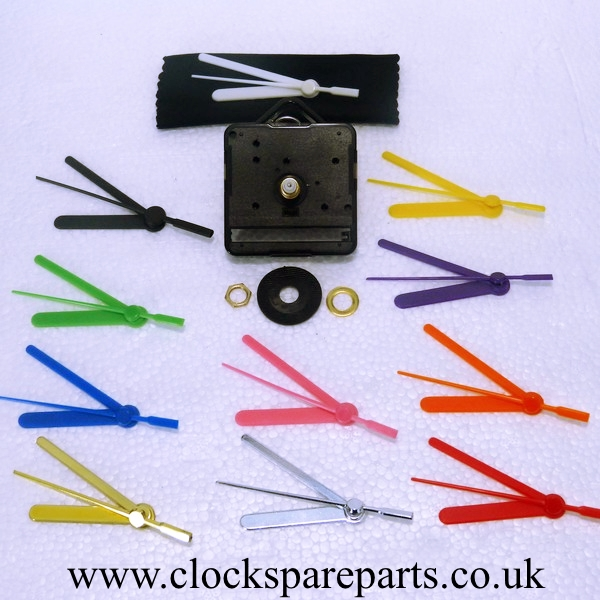 Short Shaft Sweep Movement With Coloured Hands Buy Clock