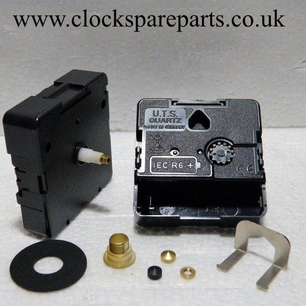 Replacement compact Quartz UTS euroshaft clock movement long 20mm shaft